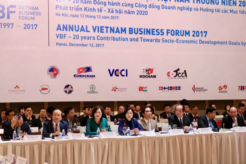 Annual Vietnam Business Forum 2017: 20 years contribution and towards socio-economic development goals by 2020